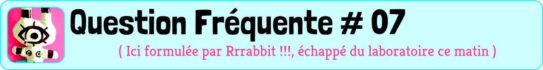 Question fréquente numéro 7, posée par un lapin vert étrange en latex, tout droit sorti d'une soirée décadente